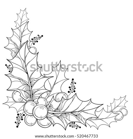 christmas holly border coloring pages - photo#40