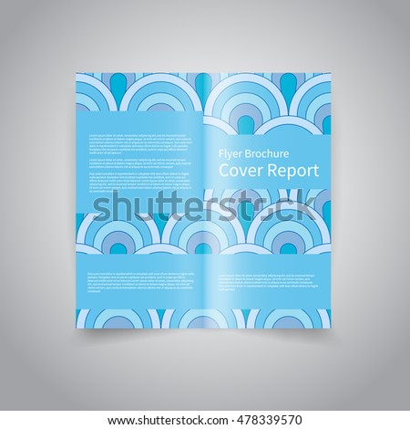 Vector Twofold Brochure Design Template Abstract Stock Vector Hd