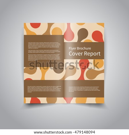 Vector Twofold Brochure Design Template Retro Stock Vector