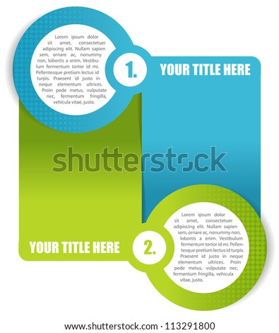 Vector two step abstract background for brochure or website - stock vector