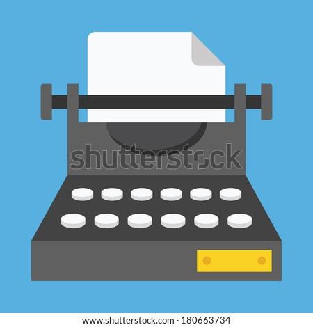 Vector Typewriter Icon - stock vector