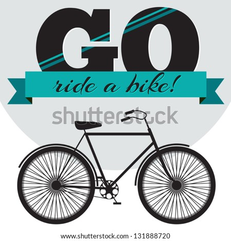 Vector Illustration Bicycle Heart On Geometric Stock Vector