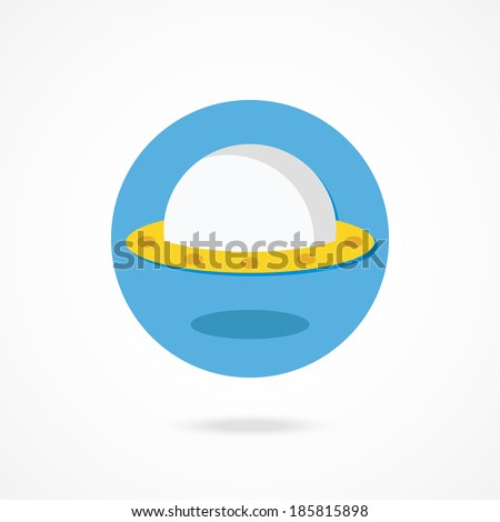 Vector UFO Icon - stock vector