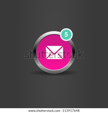 Vector UI  mail icon - stock vector
