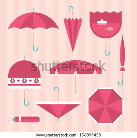 Vector umbrellas - stock vector