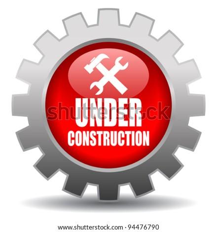 Vector under construction sign - stock vector