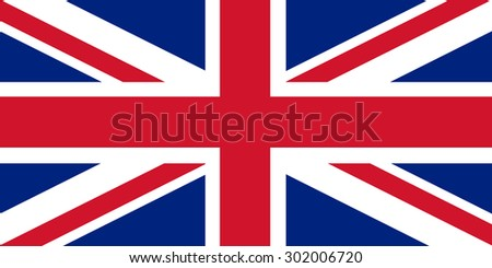 vector Union Jack flag - stock vector