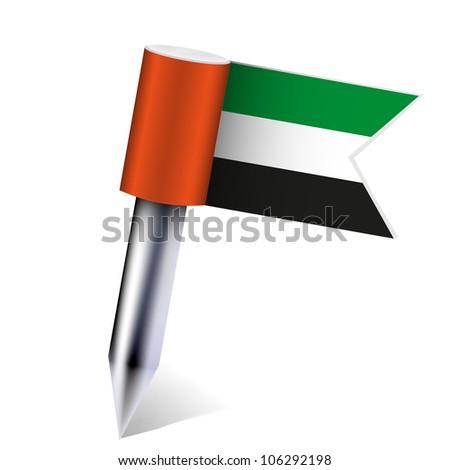 Vector United Arab Emirates flag isolated on white. Eps 10 - stock vector