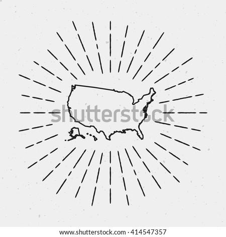 Vintage Map Of United States Stock Images RoyaltyFree Images - Sketch drawing us map