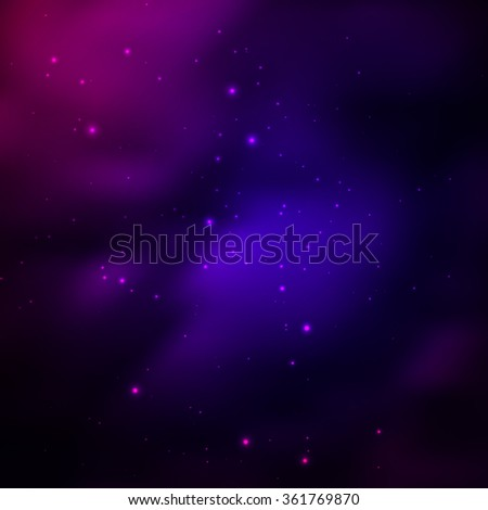 Vector Universe Background With Stars - stock vector
