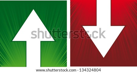 vector up and down arrows - stock vector