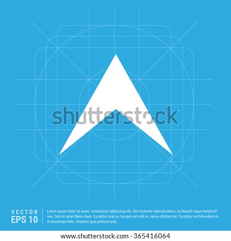 Vector Up arrow icon. Vector arrow icon - stock vector