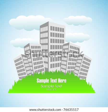 vector urban area poster - stock vector