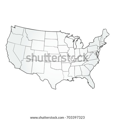 Usa Map Outline Stock Images RoyaltyFree Images Vectors - Black and white usa map