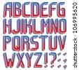 Vector 2012 USA presidential election special 3d font ABC a-z - stock vector