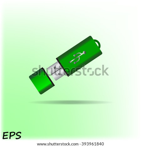 Vector usb flash drive icon