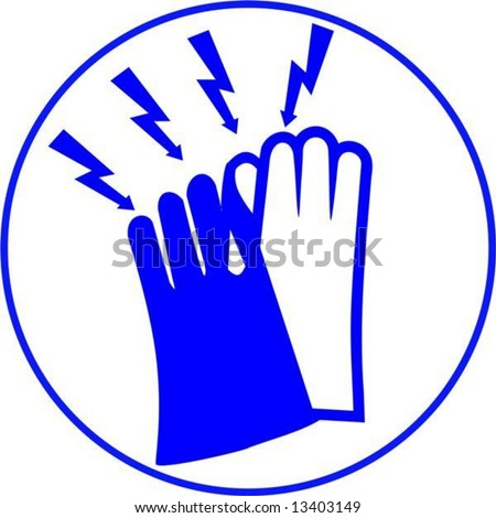 vector.use electrical gloves sign
