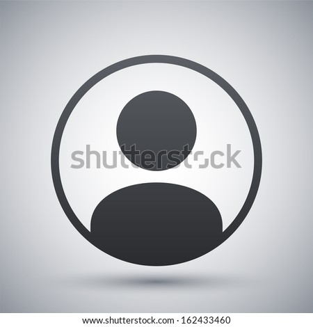 Vector user icon - stock vector