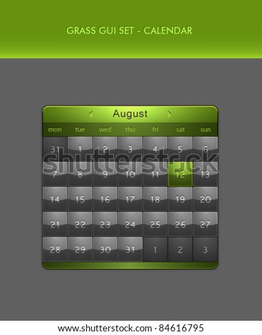Vector User Interface Elements - Calendar - stock vector