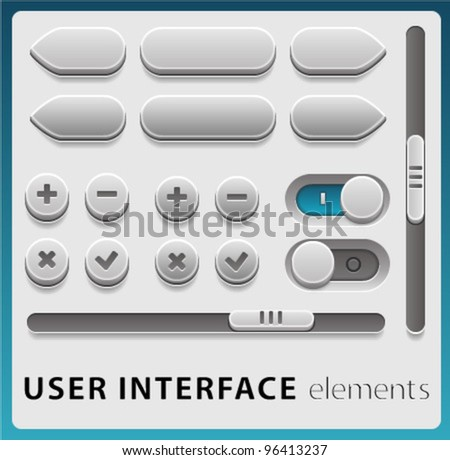 Vector User Interface Elements for Web and Mobile
