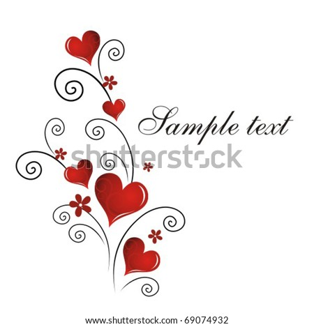 Vector Valentine`s Day card - stock vector