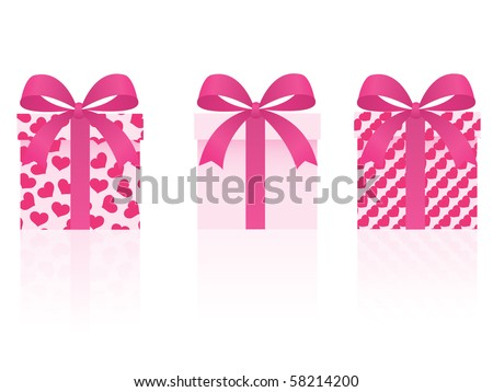vector valentine's day gifts set