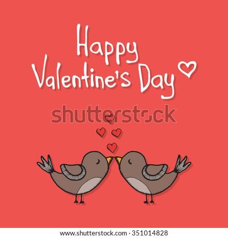 Funny Valentines Day Card Vector 69510922 Shutterstock – Bird Valentine Card