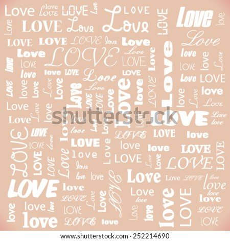 Vector Valentines day card background - stock vector