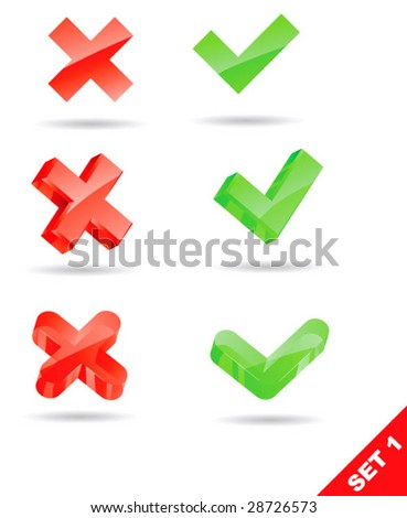vector validation icons - stock vector