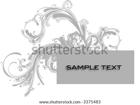 Vector- Vector- banner with ornaments. Copy space for text. - stock vector