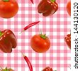 Vector vegetable texture, seamless pattern. - stock photo