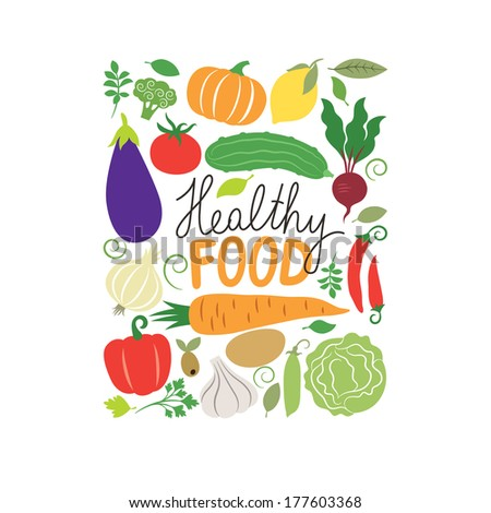 vector vegetables illustration - stock vector