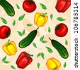 Vector vegetables pattern - stock vector