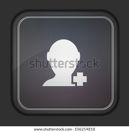 Vector version. Add friend icon. Eps 10 illustration. Easy to edit - stock vector