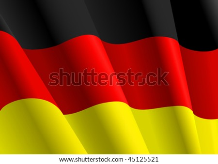 Vector version. Flag of Germany for design as a background or texture. Jpeg version is also available
