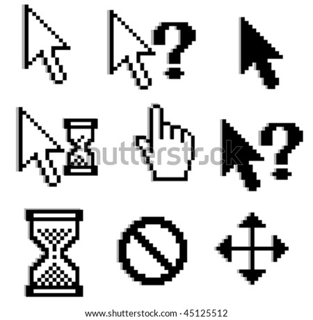 Vector version. Pixelated graphics for internet and web design. Jpeg version is also available