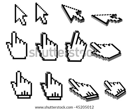 Vector version. Pixelated graphics for internet and web design. Jpeg version is also available - stock vector