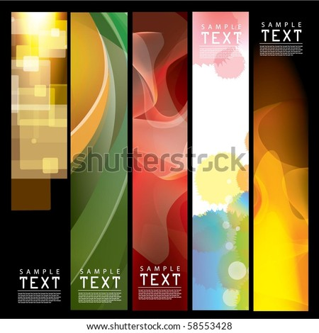 Vector Vertical Banner - stock vector