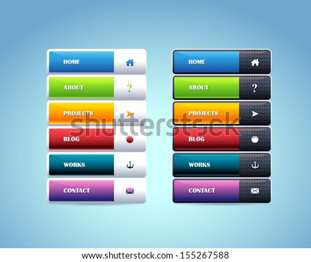 Vector Vertical Header Web Menu Design - stock vector