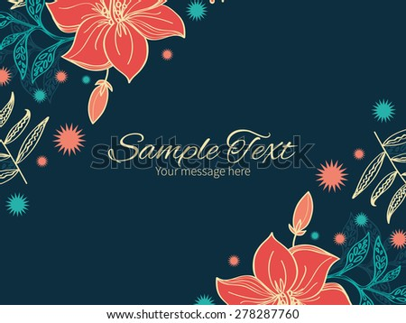 Vector vibrant tropical hibiscus flowers horizontal double corners frame invitation template - stock vector