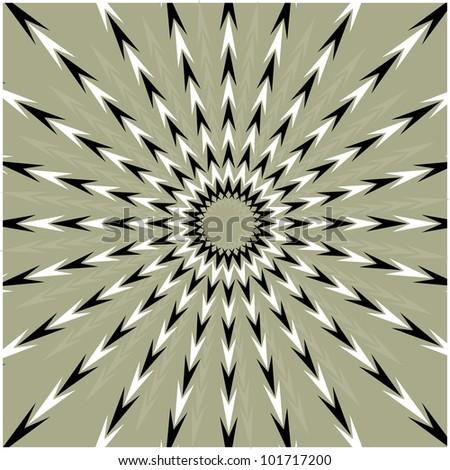 vector vibrating arrows circle - pulsar - stock vector