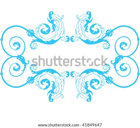 Vector vignette In flower style - Empire, East, Greek, Gothic, Modernist, Rococo, Romance, baroque