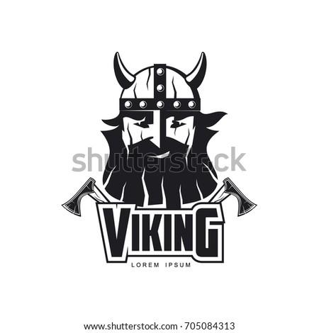 Vector Vikings Icon Logo Template Design Stock Vector 705084313 ...