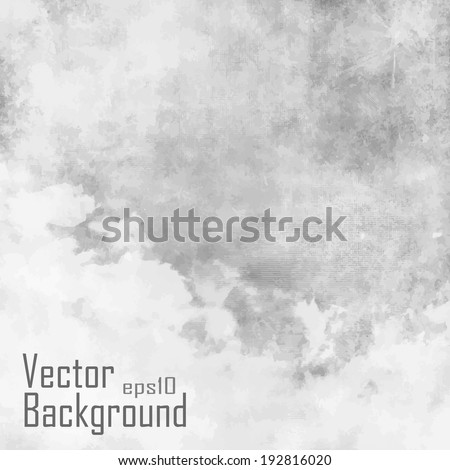 Vector - Vintage background in gray shade with clouds - stock vector