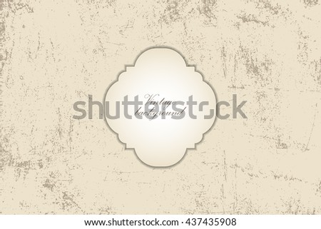 Vector vintage background old paper with scratches and a worn surface. Illustration for creating wallpaper, backgrounds, card backs. - stock vector