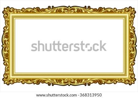Vector Vintage Border Frame Engraving Retro Stock Vector 368313950 ...