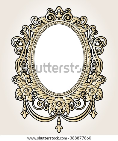 Rococo pattern stock images royalty free images vectors for Rococo decorative style