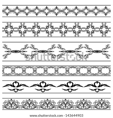 vector vintage borders set