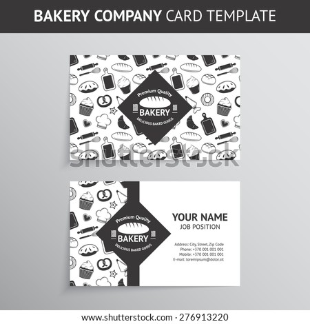 vector vintage business card design template stock vector royalty