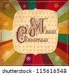 Vector vintage Christmas card - stock vector